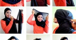 Simple Black Hijab Tutorial