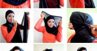 Simple Black Hijab Tutorial