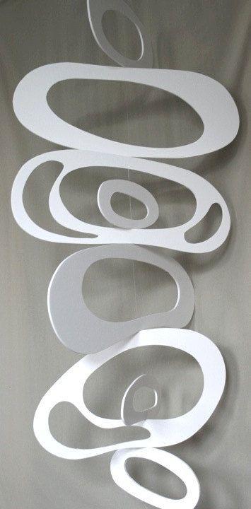 Foam board mobile! (Calder / Organic - Biomorphic Shapes vs. Geometric Shapes / Shapes vs. Forms / Pos vs. Neg...)