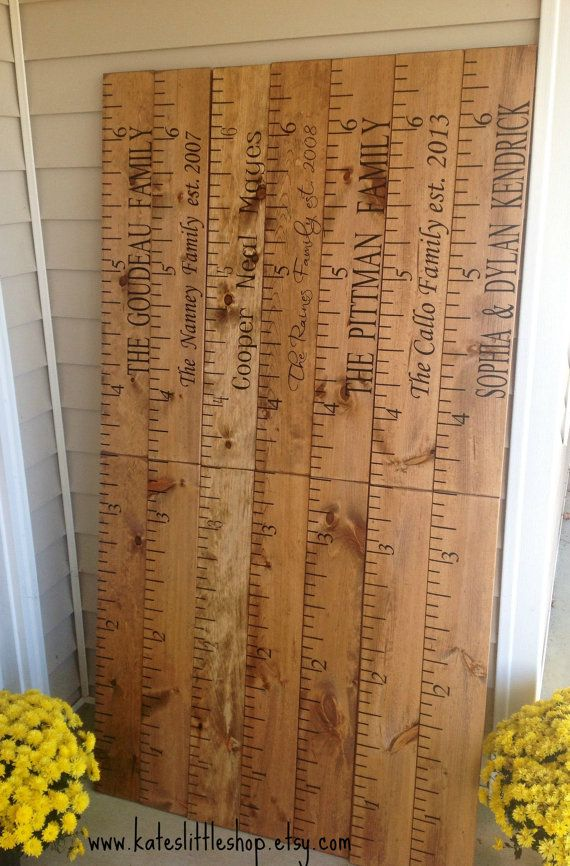 Giant Ruler. HAND PAINTED. Family Growth Chart. by KatesLittleShop
