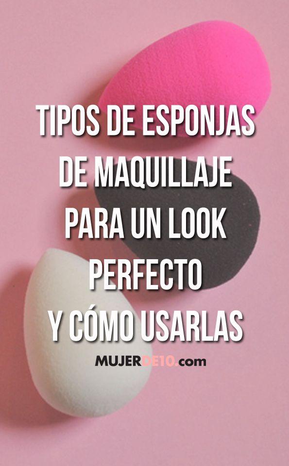 Tipos de esponjas de maquillaje para un look perfecto y cómo usarlas