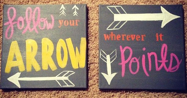 Pi Phi crafting- follow your arrow wherever it points! #piphi #pibetaphi