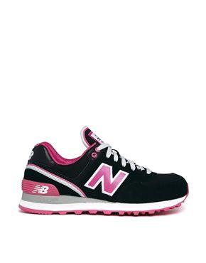 Zapatillas de deporte en color negro/rosa Stadium 574 de New Balance  Asos 98,32€