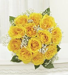 TX yellow rose bouquet