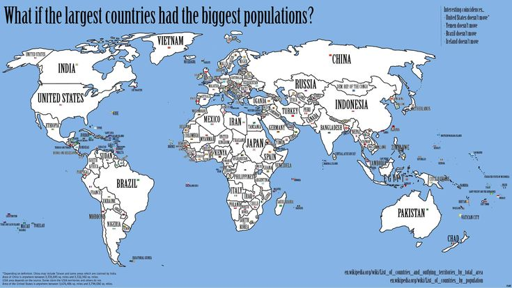 Here's a fun way to look at the world. What if every country's population actually matched its size? So more populous places like Japan and ...
