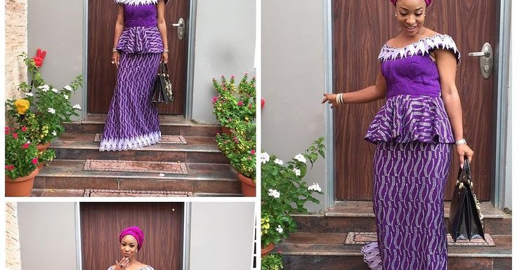 @tontolet  Picture of Tonto dike in aso ebi style  Aso Ebi Styles long gown