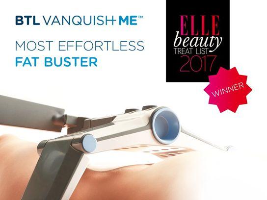"""O #BTLVanquishME foi novamente premiado internacionalmente. Desta vez recebeu o prémio para """"Most Effortless Fat Buster"""" da Revista Elle """"Beauty Treat List"""" 2017.  Perca gordura e volume sem esforço, dor nem tempo de recuperação. #BTLAesthetics #BTLPortugal #bemestar #lookdifferentfeeldifferent"""