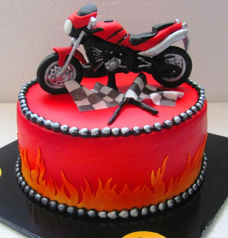 Motorcycle Cake Topper Pattern