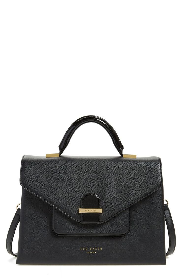 Love the smart look of this structured black and gold satchel from the Anniversary Sale. It would be the perfect handbag to polish off the work week looks.