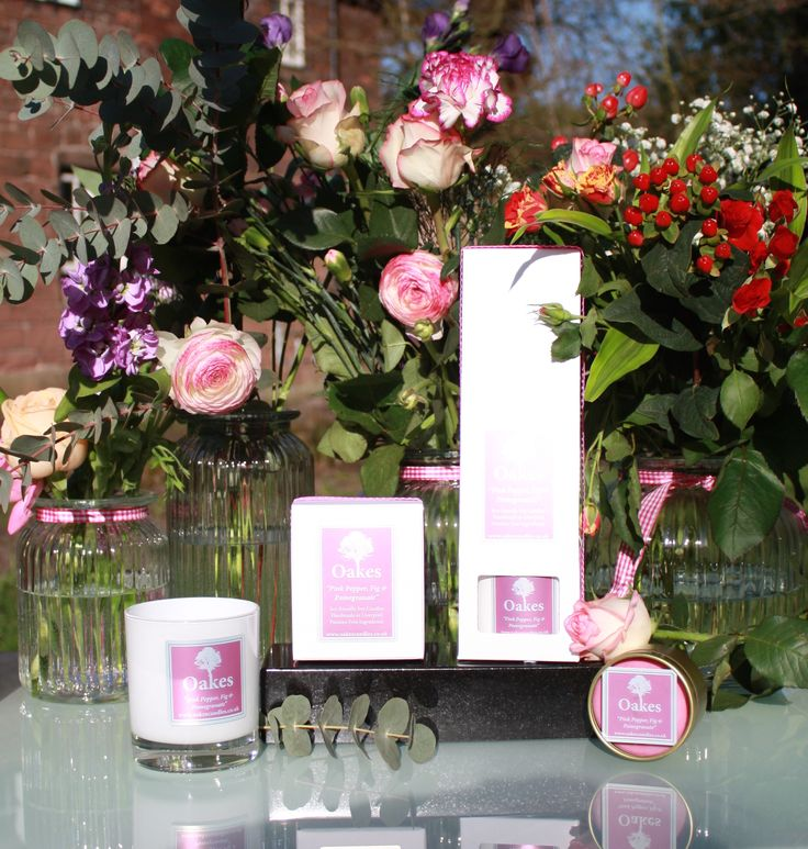 "Oakes ""Pink Pepper, Fig & Pomegranate"" Eco Friendly Candle & Eco Friendly Diffuser Range"