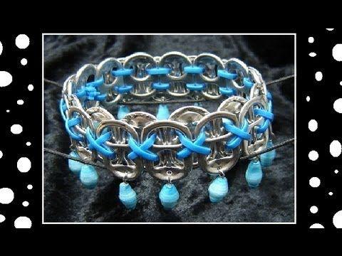 Emmy DE * ►How To Make Recycled Pop Tab Jewelry - Craft Tutorial 13    (Soda Tab Bracelet Tutorial)
