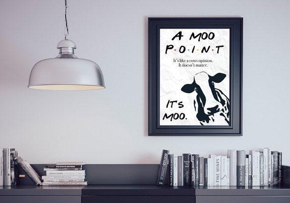 Een Moo wijs Joey Tribbiani vrienden citeren door ColoursPrints
