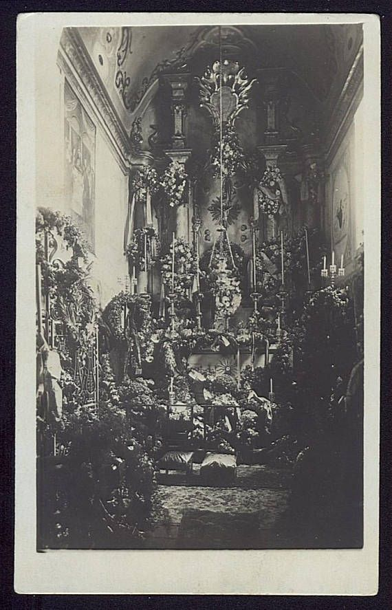 RPPC Altar Photo An Altar Postcard Church Interior Vintage