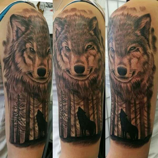 Wolf tattoo,relistic tattoo,tattoo andel chrudim, forest tattoo
