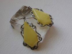 Sterling silver and amber earrings  Design&Handmade by K.Tokar