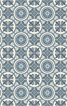 PVC (14€/m²) CV Bodenbelag Bfl/S1 Retro Design grau blau 200 cm Boden | eBay