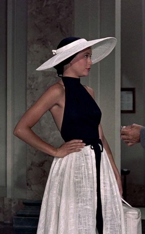 Grace Kelly in Edith Head design - 'To Catch a Thief', - Fashion on Film.