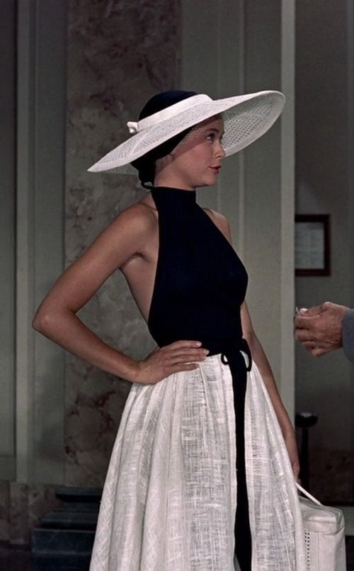 Grace Kelly in Edith Head design - 'To Catch a Thief', - Fashion on Film.