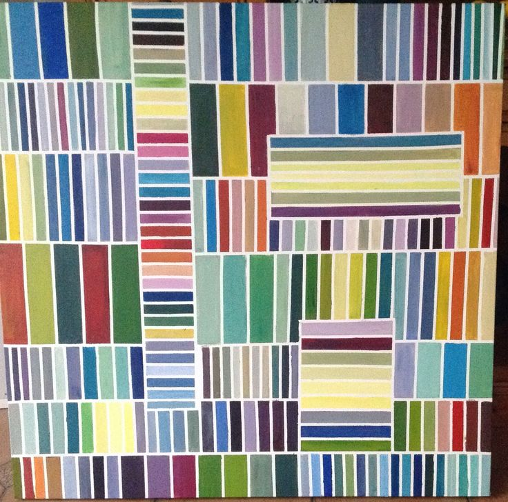 Geometric Colour Study 16 by Lyn Lowes. Acrylic on canvas.