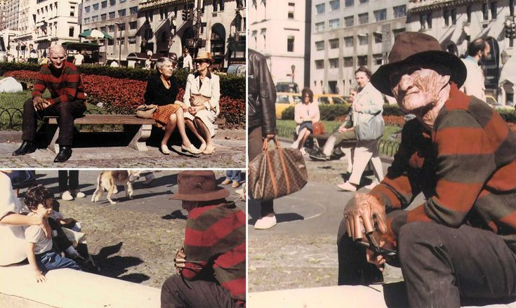 Robert Englund as Freddy Krueger on the set of A Nightmare on Elm Street Part 2: Freddys Revenge - Rare and beautiful celebrity photos