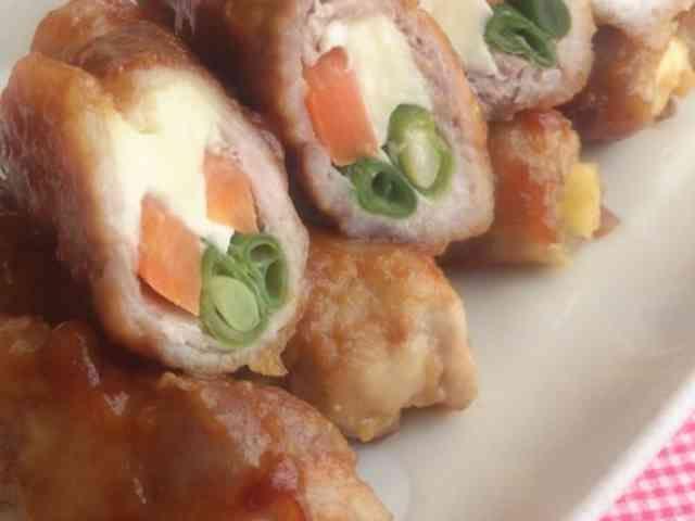 野菜とチーズの豚肉巻きの画像
