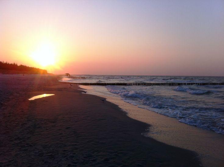 Sonnenuntergang zwischen Zingst und Prerow