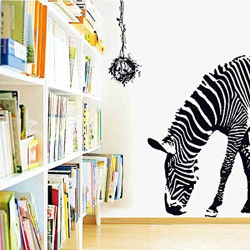 High Quality Voberry® Newest Hot Sale Fashion Home Decor Animal Zebra Removable Print  Mural Art Decal Wall Ideas