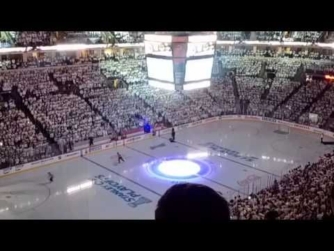 White out Returns. Winnipeg Jets first playoff Game in 19 years April 20, 2015 - YouTube