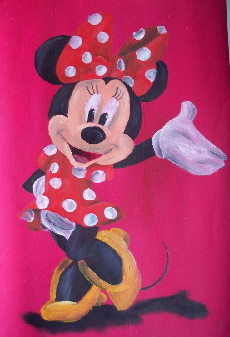 minnie mouse by billywallwork525 minnie loves mickey. Black Bedroom Furniture Sets. Home Design Ideas