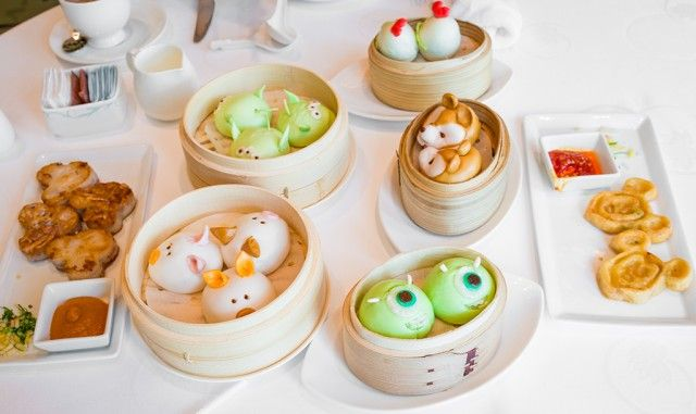 "So cute! However, the pricing sounds ridiculous for dim sum. ""Disney themed dim sum at Crystal Lotus @H K Disneyland Hotel"""