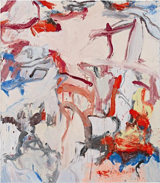 """Willem de Kooning, Untitled VI, 1975    """"That's what fascinates me—to make something I can never be sure of, and no one else can either. I will never know, and no one else will ever know… That's the way art is."""" (Willem de Kooning, 1972, from an interview with Harold Rosenberg, de Kooning Paintings: 1960-1980, Ostfildern-Ruit, 2005, p. 154)"""