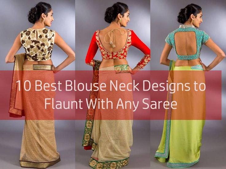 Latest Blouse Back Neck Designs, Blouse Back and Front Neck Designs for Sarees, Blouse Neck Designs for Sarees, Latest Blouse Neck Catalogue.