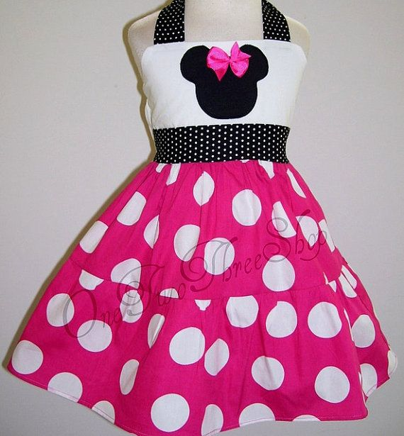 Custom Boutique Clothing Minnie Mouse Halter Dress by amacim