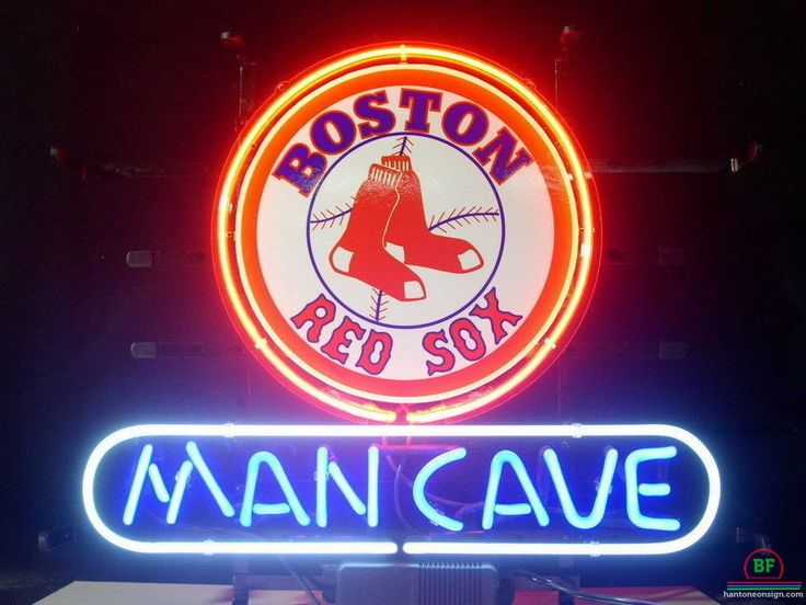 Man Cave Boston Red Sox Neon Sign MLB Teams Neon Light