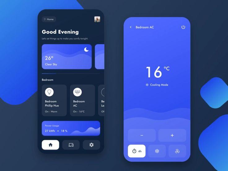 Smart Home App By Vincent Wendy On Dribbble Mobile App Design Inspiration Mobile App Design App Design