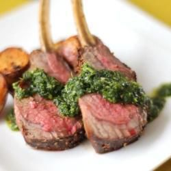 Recipe Picture:Spice Crusted Rack of Lamb with Coriander and Mint Sauce