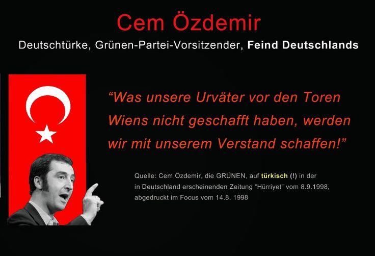 Was unsere Urväter vor den Toren Wiens nicht geschafft haben, werden wir mit unserem Verstand schaffen. — Cem Özdemir Grünen-Partei-Vorsitzender
