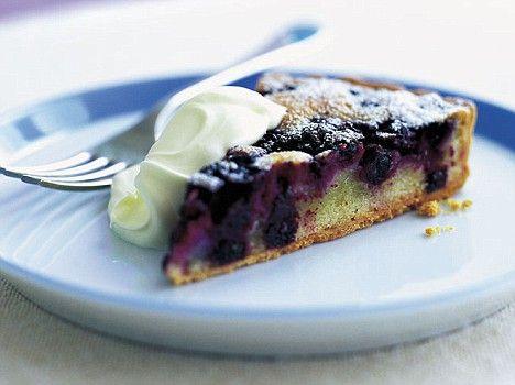 Blackcurrant frangipane tart