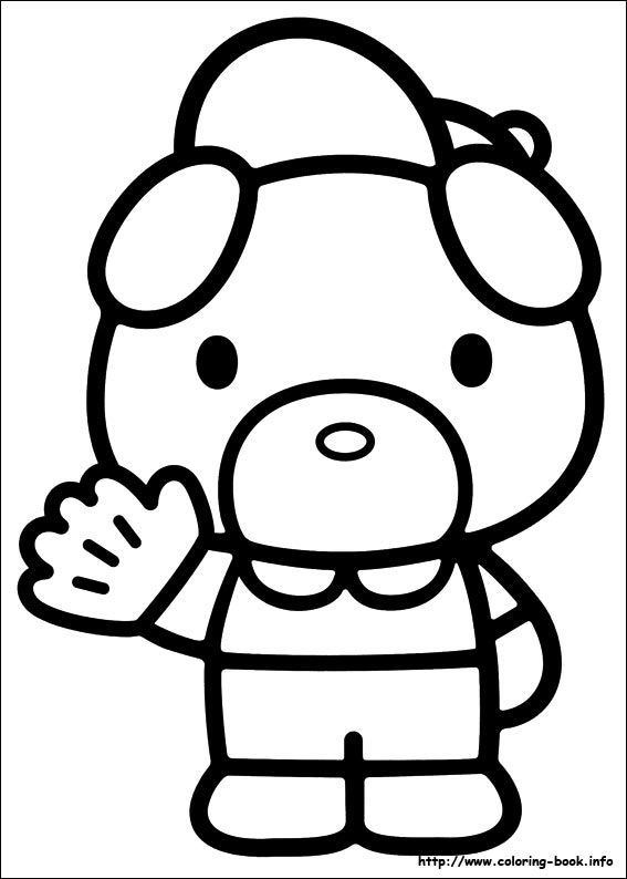 hello kitty coloring pages hello kitty 51 coloring page - Kitty Doctor Coloring Pages