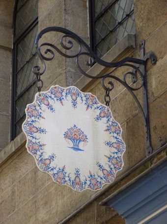 Sign in Rouen - France.