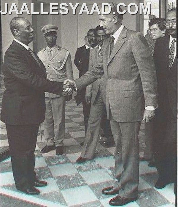 Siad Barre e Giscard D'Estaing (político francês).