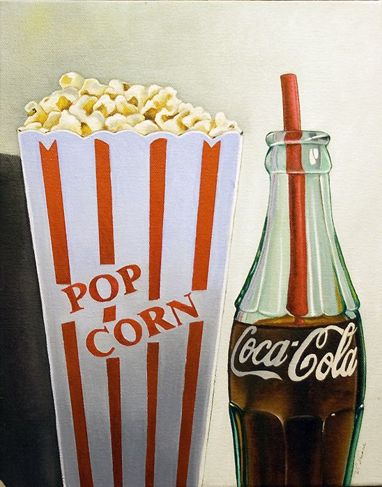 Coca Cola and Popcorn, Vic Vicini Painting