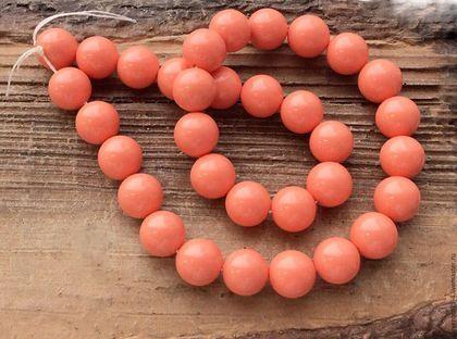 Для украшений ручной работы. Ярмарка Мастеров - ручная работа. Купить Жемчуг Майорка 10 мм шар коралловый бусины для украшений. Handmade.