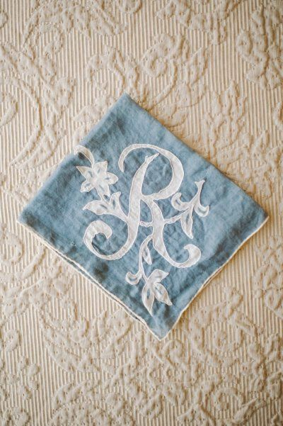 monogrammed handkerchief | Photography by sheachristine.com |   Read more - http://www.stylemepretty.com/2013/07/11/miami-wedding-from-shea-christine-a-love-for-detail/