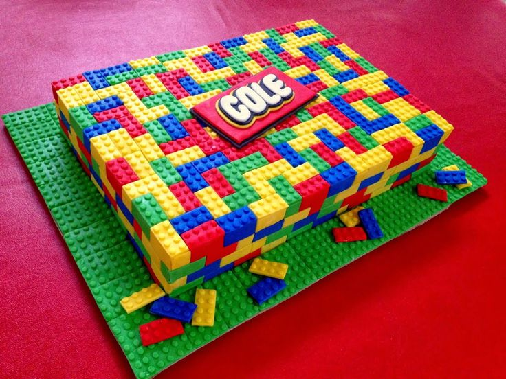 Step by step tutorial and mold: How to make a Lego Cake