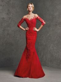 Společenské šaty Pronovias Laurina Red