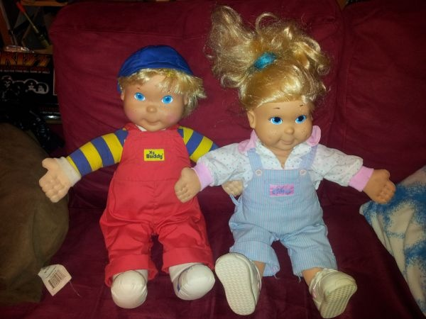 80s Toy Dolls : My buddy and kid sister vintage toy dolls from the s