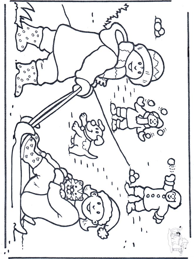 Free coloring pages snow