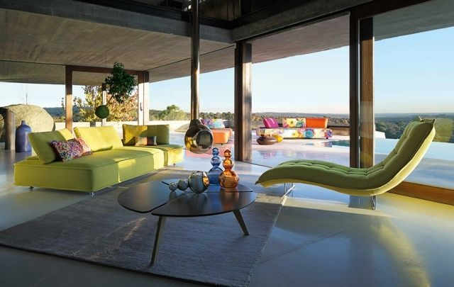 Wohnzimmer wohnideen ~ Wohnzimmer wohnideen roche bobois möbel sofa dreisitzer tagesbett