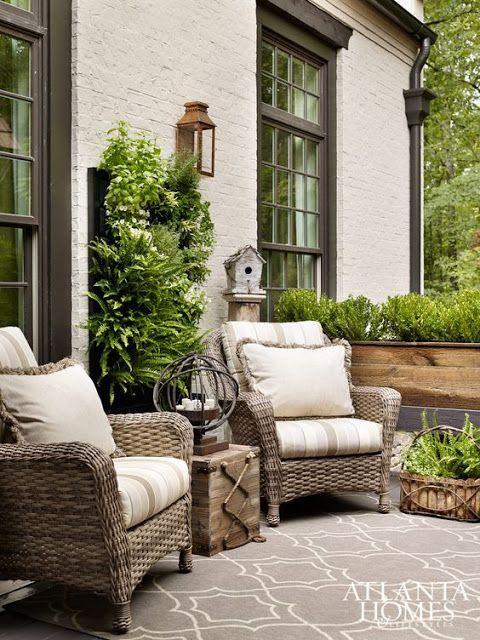 Cute sitting area on patio. #outdoorliving homechanneltv.com